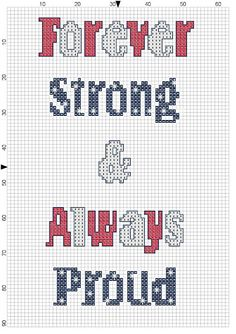 Free Patriotic Cross Stitch Pattern - Support USA #usa #crossstitch #free