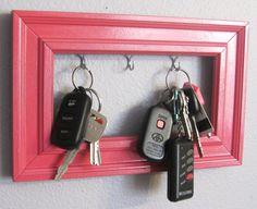 Decorative Frame Key Holder Large by ChelseysDistractions on Etsy, $12.50