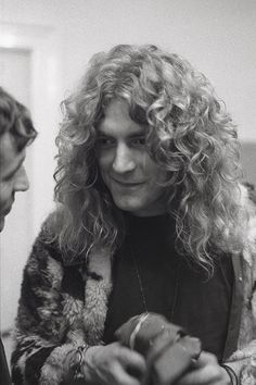 "waywaydowninside: "" Robert Plant backstage at Musikhalle in Hamburg, 1973. """