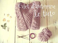 Il y a quelques jours, je vous présentais le gilet d'automne sur le blog. Le tutoriel ci-dessous vous explique comment le réaliser sur mesure à votre taille. /!\ Lisez bien le tutoriel en entier... Beginner Knitting Projects, Knitting For Beginners, Crochet Projects, Gilet Crochet, Knit Crochet, Free Knitting, Knitting Patterns, Simple Knitting, Boyfriend Crafts