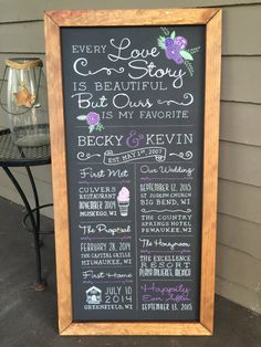 THE ORIGINAL Personalized Framed Chalkboard Love by TimberAndType
