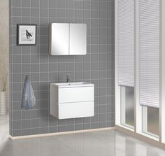 """View the DreamLine DLVRB-104 Wall-Mounted Vanity 23-5/8"""" Includes Porcelain Sink and Medicine Cabinet  at Build.com."""