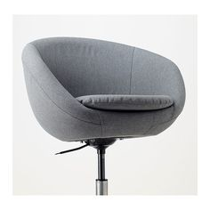 You sit comfortably since the chair is adjustable in height. The safety castors have a pressure-sensitive brake mechanism that keeps the chair in place when you stand up, and releases automatically when you sit down. Ikea Office Chair, Spare Room Office, Compact Table And Chairs, Mid Century Modern Armchair, Scandinavian Dining Chairs, Types Of Flooring, Swivel Chair, New Furniture, Outer Space