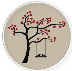 New bird embroidery trees 57 Ideas Cross Stitch Tree, Cross Stitch Heart, Counted Cross Stitch Patterns, Embroidery Hoop Art, Embroidery Patterns, Crochet Patterns, Heart Tree, Cross Stitch Kitchen, Budget Planer