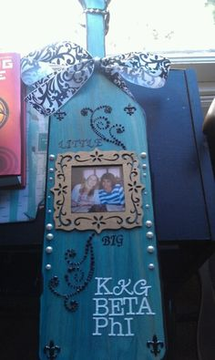 """KKG paddle"" AHHHHHH My Sorority sister made this <3 @Maria Henderson Fredrickson @Jaime Morelli"