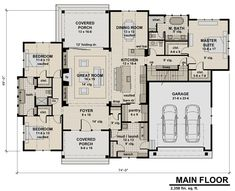 This contemporary design floor plan is 2358 sq ft and has 3 bedrooms and has bathrooms. Sims House Plans, Best House Plans, Dream House Plans, Small House Plans, House Floor Plans, Dream Houses, Building Plans, Building A House, Building Ideas