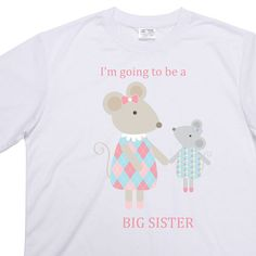Big sister t-shirt, big mouse Little mouse design, can be personalised with any name - pinned by pin4etsy.com