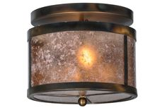 11.5 Inch W Smythe Craftsman Silver Mica Flushmount - 11.5 Inch W Smythe Craftsman Silver Mica flush mount Theme: MICA Product Family: Smythe Craftsman Silver Mica Product Type: CEILING FIXTURE Product Application: FLUSH MOUNT Color: BURNISHED A/C /SILVER MICA Bulb Type: MED Bulb Quantity: 2 Bulb Wattage: 60 Product Dimensions: 10H x 11WPackage Dimensions: NABoxed Weight: 5 lbsDim Weight: 30 lbsOversized Shipping Reference: NAIMPORTANT NOTE: Every Meyda Tiffany item is a unique handcrafted…