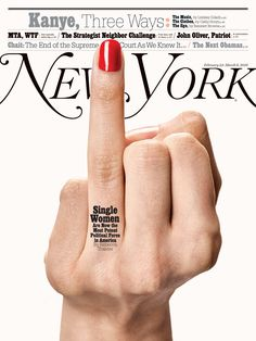 """nymag: """" Single women are now the most potent political force in America. They could change the course of the election — and the country. By Rebecca Traister On the Cover: Photograph by Bobby Doherty/New York Magazine. Nails by Maki Sakamoto at Kate. Magazine Front Cover, Fashion Magazine Cover, Magazine Cover Design, Magazine Covers, Editorial Layout, Editorial Design, Editorial Fashion, Magazine Editorial, Newspaper Cover"""