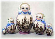 Monastery Glitter Nesting Doll
