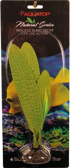 Aquatop Aquatic Supplies-Silicone Aquarium Plant Madagascar Lace- Green 10 In
