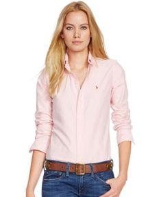 Polo Ralph Lauren Slim Fit Long-Sleeve Oxford Shirt