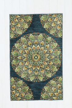 Peacock Medallion Rug- perfect for sitting room with 1870s settee and chairs!