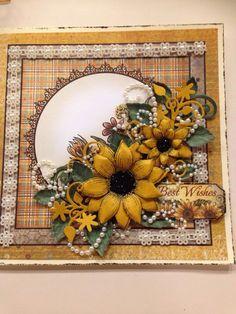 Heartfelt Creations sunflower card Hand Made Greeting Cards, Making Greeting Cards, Pretty Cards, Cute Cards, Diy Cards, Sunflower Cards, Creation Crafts, Heartfelt Creations Cards, Spellbinders Cards