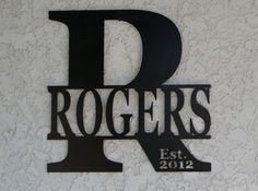Personalized Name Metal Sign  Custom metal Name by CandGMetalArt, $78.50