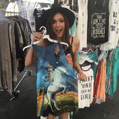 Nina Dobrev - I don't remember designing a Tshirt. But obviously I did.