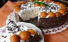 Krémový kaštanový dort bez pečení