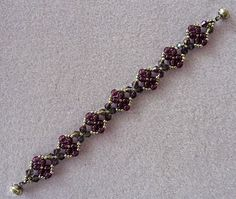 Linda's Crafty Inspirations: Bracelet of the Day: Craving Crystal - Amethyst