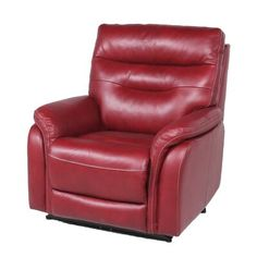Wall Hugger Recliners, Glider Recliner, Home Theater Seating, Power Recliners, Single Sofa, Leather Recliner, Living Room Chairs, Foot Rest, Red Leather