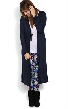 Deb Shops Plus Size Long Sleeve #Duster #Cardigan $18.83