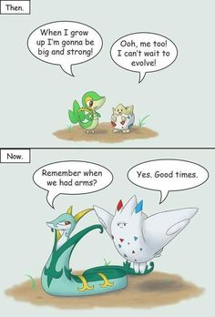 Evolving can be a bitch. Why do you think Ash's pikachu hasn't done it lol