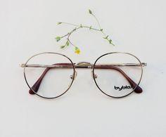 80s BYBLOS frames / Vintage rounded Eyeglasses / by Skomoroki