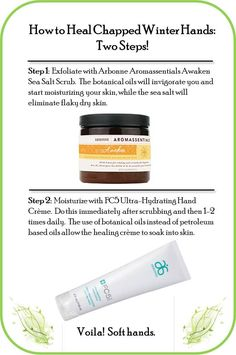Try these two steps to relieve dry, chapped #hands. #Arbonne.  Visit my web store at www.surshae.com or my FB page at surshae @Arbonne International. Consultant ID: 21565488