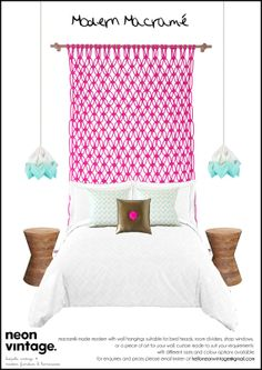 DREAM CATCHER. macrame made modern. wall hanging. bed head. room divider. on Etsy, $590.00 AUD
