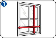 Fliegengitter an Türen und Fenstern anbringen - Fenster ausmessen