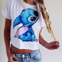 Cute animal pattern short t-shirt