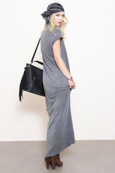 Scoop Neck Relaxed Maxi Dress by NYTT