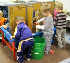 Here is an attempt to show the flow of play in and around the dividers. Note that there are no limits on the number of children at the ta. Sensory Table, Sensory Bins, Sensory Play, Preschool Classroom, Preschool Activities, Abc Does, Sand And Water Table, Outdoor Classroom, Special Education Teacher