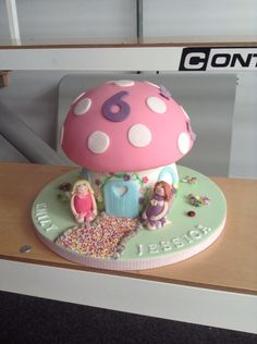 Fairy house cake Fairy House Cake, Girl Birthday, Snow Globes, Cakes, Party, Decor, Decoration, Cake Makers, Kuchen
