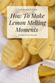 Lemon Melting Moments Cookies Recipe {Video Lemon Melting Moments An Old Fashioned Fave Lemon Desserts, Lemon Recipes, Sweet Recipes, Baking Recipes, Cookie Recipes, Snack Recipes, Dessert Recipes, Halal Recipes, Cookie Cake Pie