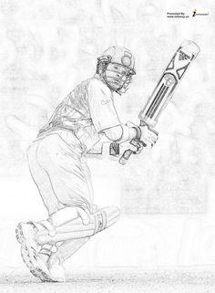 Cricket Logo, Cricket Sport, Portrait Sketches, Art Sketches, History Of Cricket, Cricket Wallpapers, Dhoni Wallpapers, Sachin Tendulkar, Sketches Of People