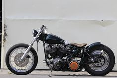Harley Davidson Bobber by Nuts Custom Cycles #motorcycles #bobber #motos | caferacerpasion.com