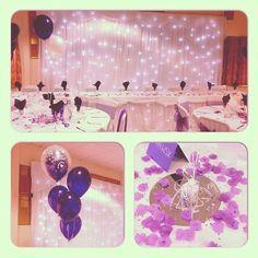 Most popular colour #cadburypurple #wedding #balloons #starlightbackdrop #purple #doublebubble #centerpeices #nicheevents #amazing #dslr #eventstylist #followme #follow4follow #instacool #instagood #Instagram #instalike #iphoneonly #instawed #like4like #n