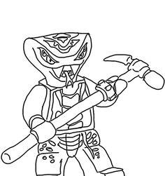 ausmalbilder ninjago schlange