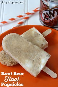 Root Beer Float Popsicles. Simple cold treat! Bring on that warm weather!