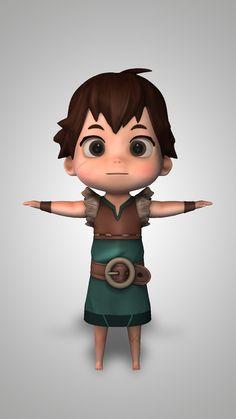 Character Modeling - Module 3 - Cartoon Character, Germán Del Toro on ArtStation at https://www.artstation.com/artwork/rKXa6