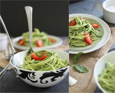 Zucchini pasta with avocado cream sauce #RunningToTheKitchen