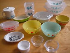 Oh darn - mini Pyrex to collect too?  Color me tickled pink.