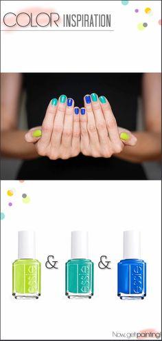 Green-Blue Essie Manicure by Miss Renaissance