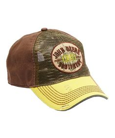 055b97bd620 Look at this  zulilyfind! Yellow  John Deere Equipment  Baseball Cap   zulilyfinds