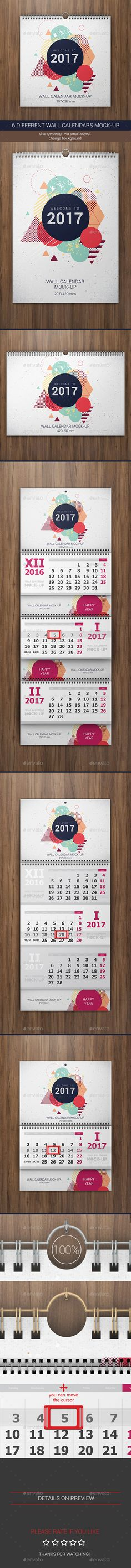 Wall Calendar New Update 2018 Calendar 2017, Ai illustrator and - calendar flyer template