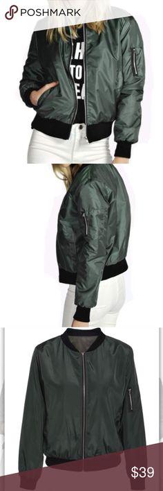 Spotted while shopping on Poshmark: Army green bomber! #poshmark #fashion #shopping #style #Jackets & Blazers