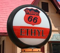 A Phillips 66 sign on a gas pump in Baxter Springs, Ks., photo by Neil Croxton