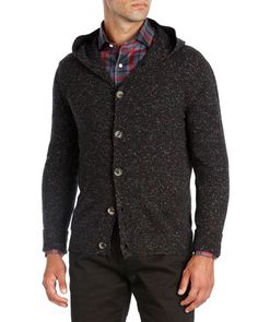 N4X3R Isaia Hooded Donegal Cashmere Cardigan