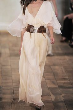 Ralph Lauren Collection. Chandra bead-embellished silk-chiffon dress. Very romantic.
