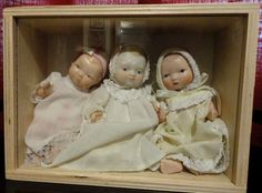 "Porcelain dolls at approximate size of 6"" - 7"" tall. Arms, legs and body are all porcelain."
